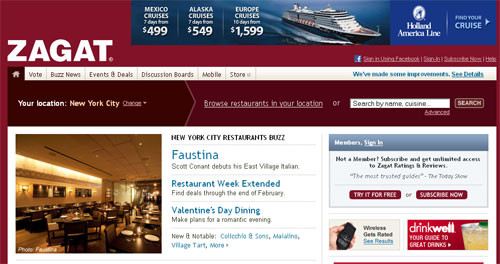 Foodie Love- Foursquare signs a deal with Zagat to create media and entertainment mix