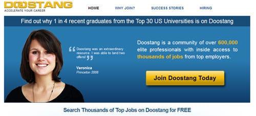 Exclusive career community, job site, Doostang Gets $1.25 Million