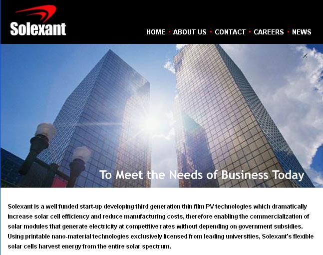 Solexant raises $42 million in venture capital- Olympus Capital Partners