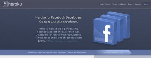 How to make a Facebook application in Ruby with Heroku?