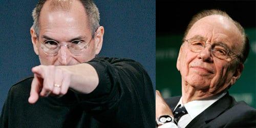 Rupert Murdoch and Steve Jobs, iPad newspaper The Daily- a new digital-only newspaper