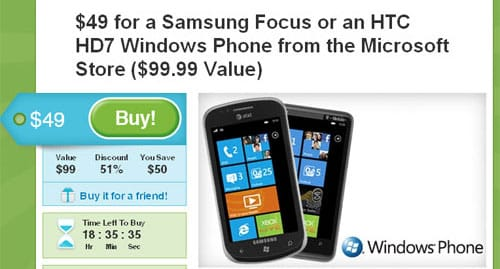 Windows Phone 7 on Groupon- sign of how bad WP7 phones sales are
