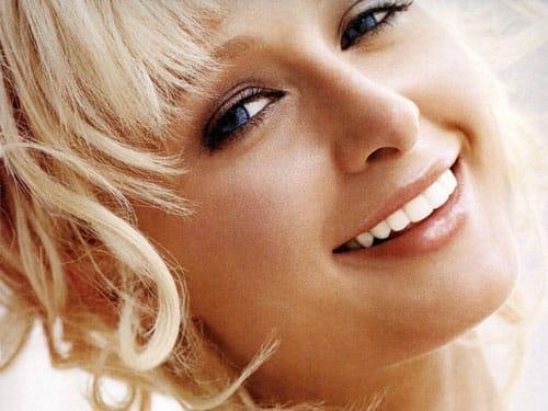Paris Hilton- a widely publicized American socialite