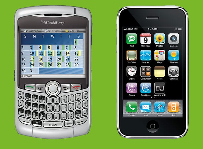 Blackberry Curve and the iPhone