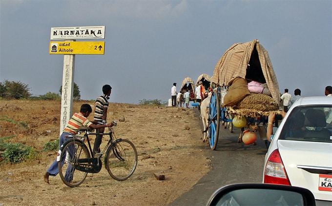 karnataka bullock cart rural india