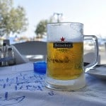 Beer at Zakynthos Islands Beach in Greece holiday