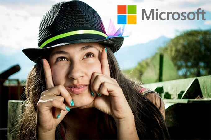 Microsoft smiling face model