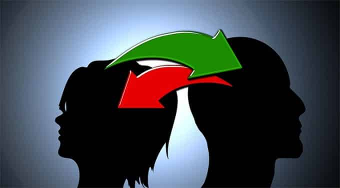 exchange-of-ideas-silhouettes-man-woman-face