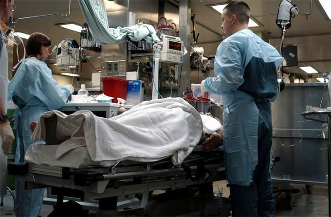 Doctor in emergency room