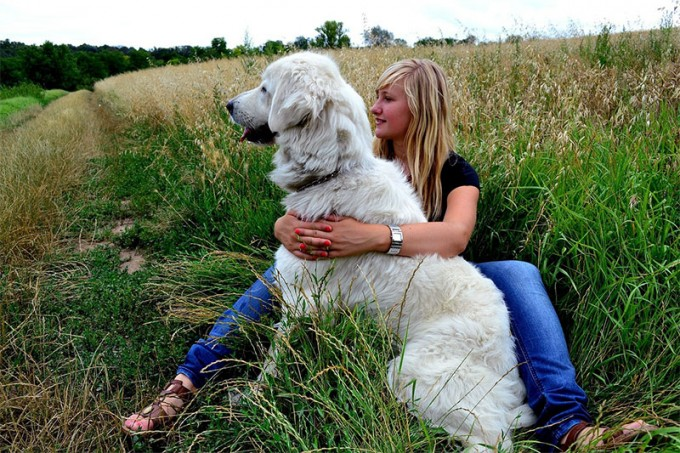 woman-dog-nature