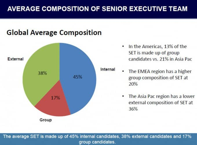 AVERAGE COMPOSITION OF SENIOR EXECUTIVE TEAM