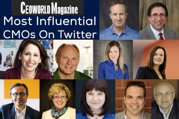 Most Influential CMOs On Twitter