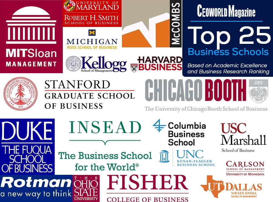 The Top 25 Business Schools Based On Academic Excellence And Business Research Ranking