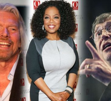 Bill Gates, Richard Branson, and Oprah Winfrey
