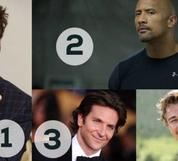 Robert Downey Jr., Dwayne Johnson, Bradley Cooper, and Leonardo DiCaprio