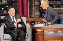 David Letterman with Robin Williams