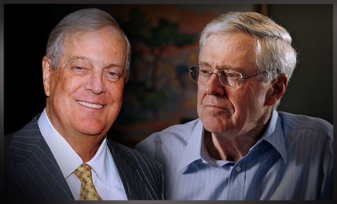 Fabulously Wealthy And Extremely Focused American Billionaire Koch Brothers