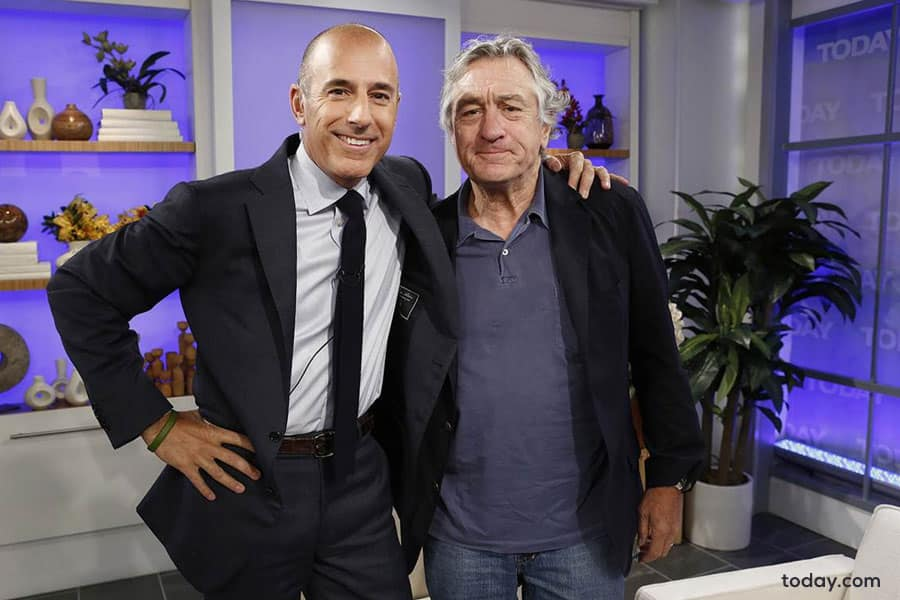 Matt Lauer with Robert De Niro