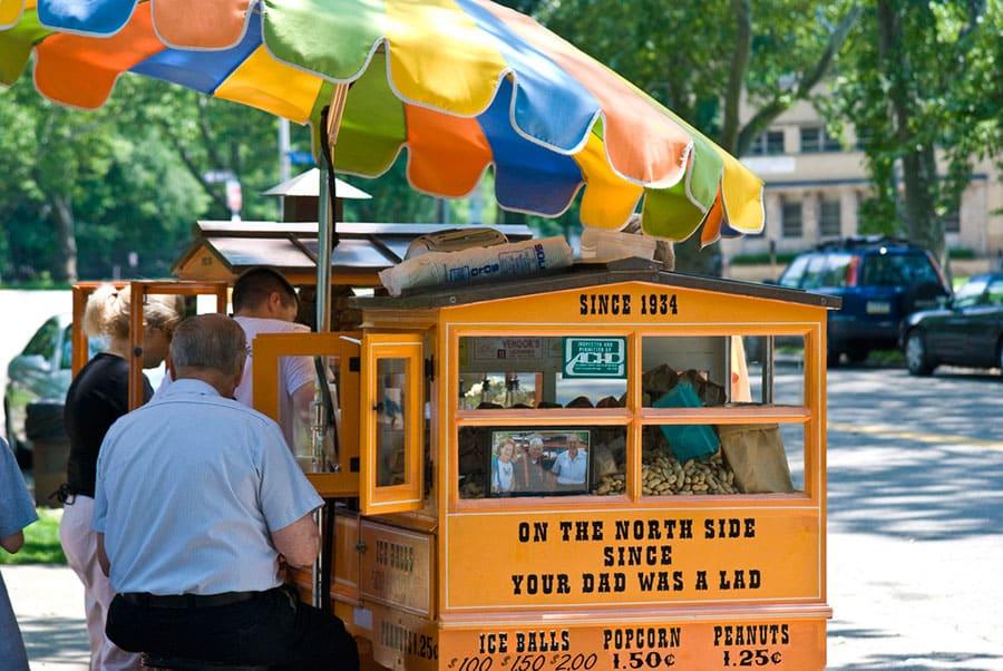 Peanut Street Vendors And Peanut Salesman
