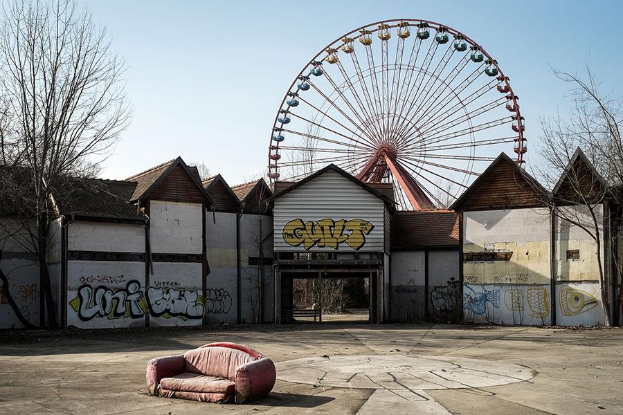 Spreepark (Kulturpark) amusement park in Berlin, Germany