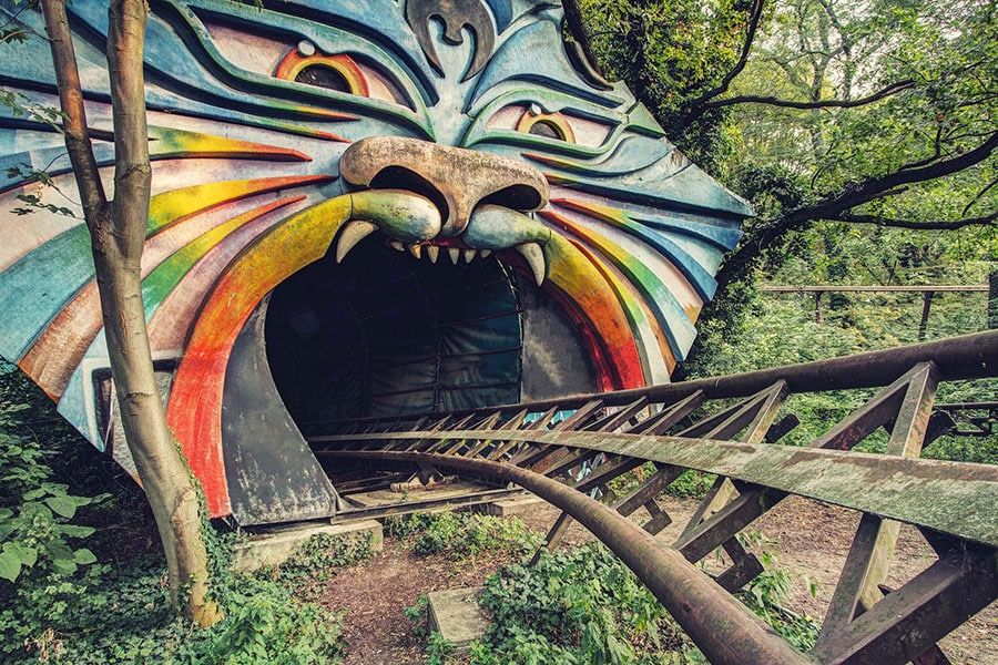 Spreepark (Kulturpark) amusement park in Berlin, Germany.