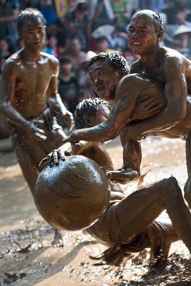 Vat Cau Nuoc The Mud Festival in Vietnam