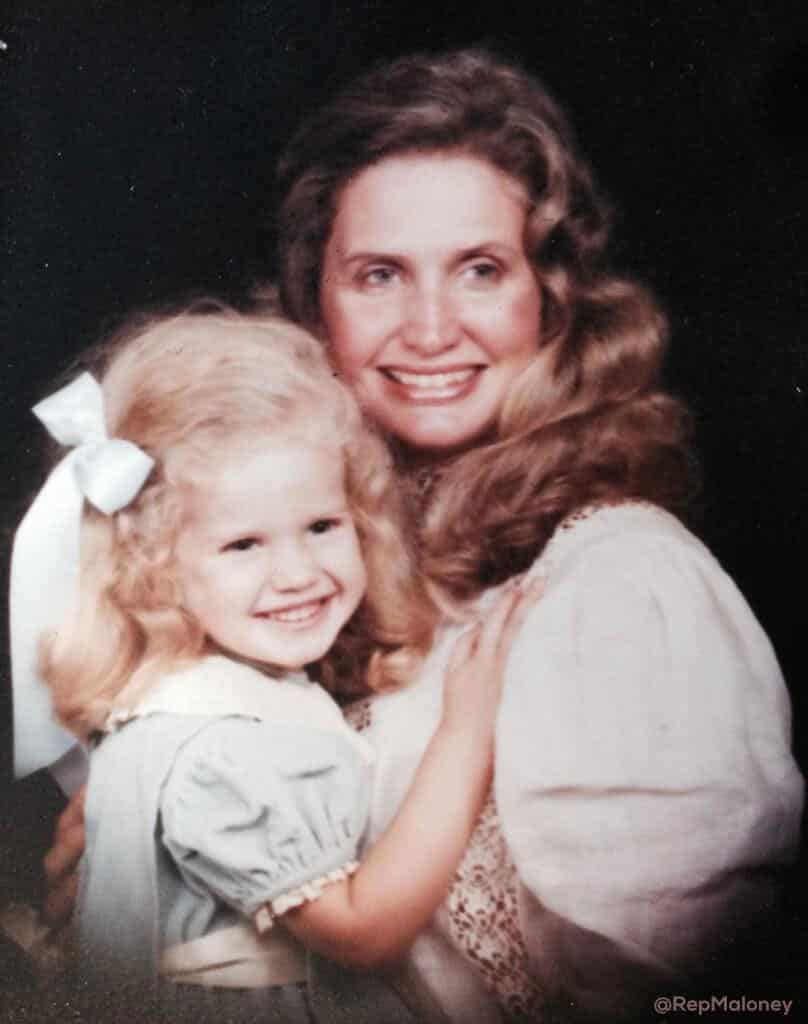 Rep. Carolyn Maloney with her daughter Christina
