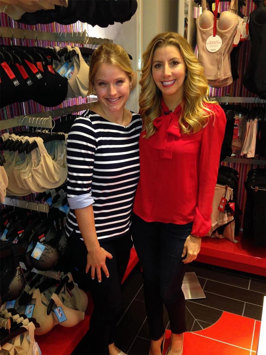 Sara Blakely with Sara Haines