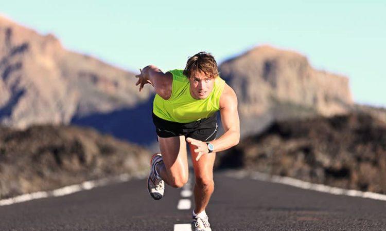Man Running Outdoor Sprinting For Success