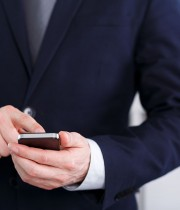 CEO Holding A Cell Phone
