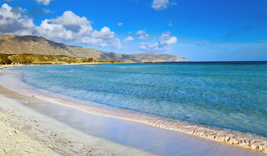 Elafonissi Beach scooped number one place in the Greece's most amazing beaches