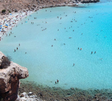 Rabbit Beach on the island of Lampedusa off the south coast of Sicily has been named as the best beach in Italy 2015