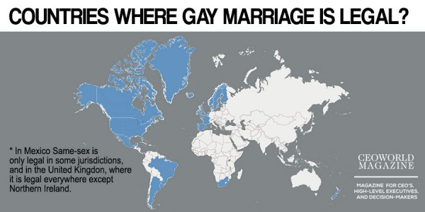 homosexuality and same sex marriage across the world The supreme court's decision affirming the right to same-sex marriage across the the movement for gay rights that began after world war ii.