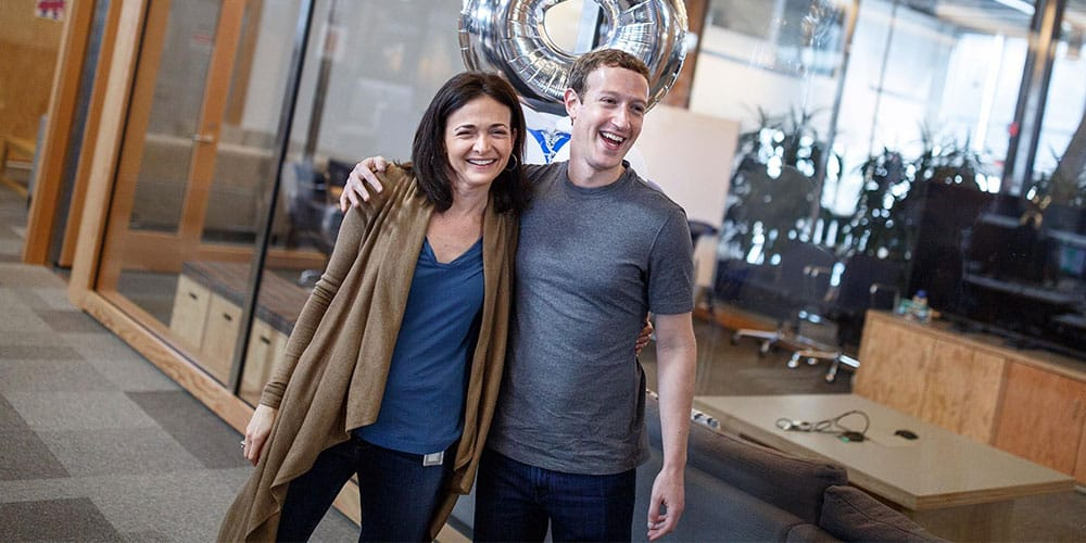 Sheryl Sandberg and Mark Zuckerberg