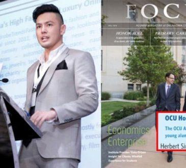 WardrobeTrendsFashion's Herbert Sim honored with 30 Under 30 Award by Oklahoma City University