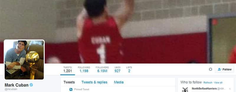 Marc Cuban Twitter profile