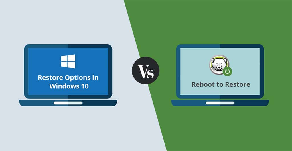 System Restore Options in Windows 10 VS Reboot To Restore