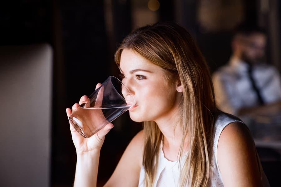 BusinessWoman Drinking Water
