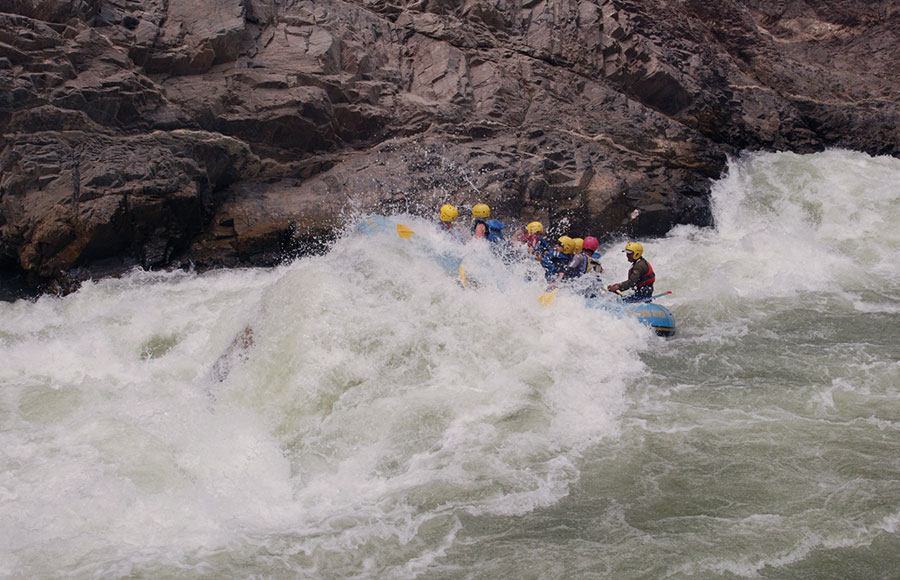River Rafting on the Bhote Koshi River Nepal