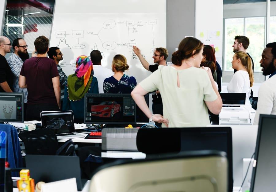 Startup Business Team Brainstorming on Meeting