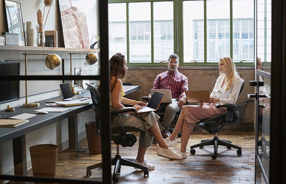 Business team meeting in an office