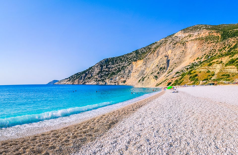 Myrtos Beach on Kefalonia Island Greece