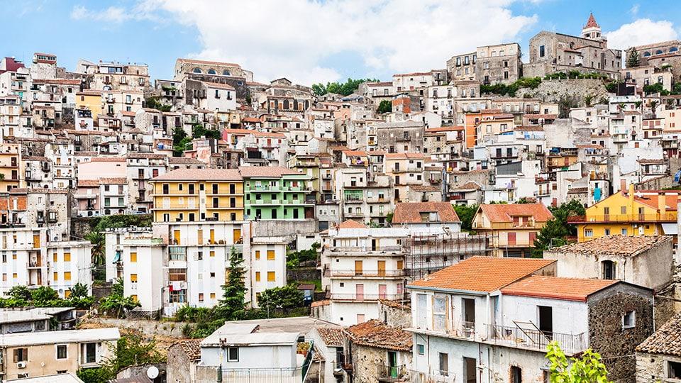 Sicilia town in Sicily Italy