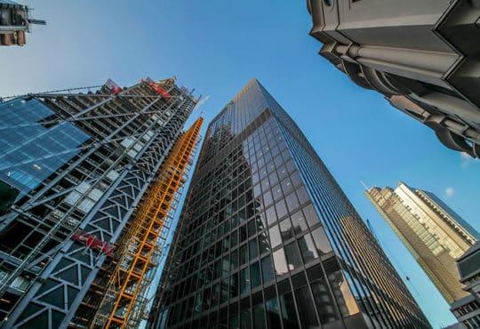 London commercial district, UK