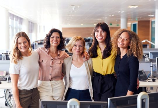 Smiling Female Business Team