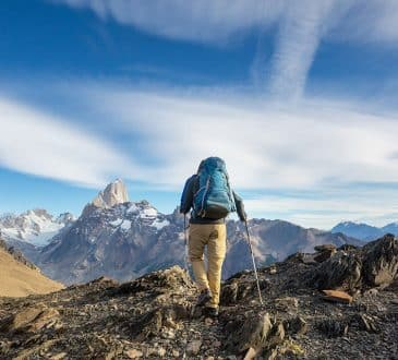 adventurous lifestyle hiking in Patagonia