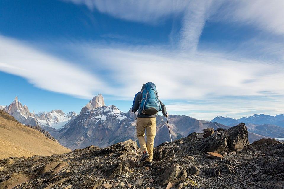 adventurous lifestyle hiking in Patagonia