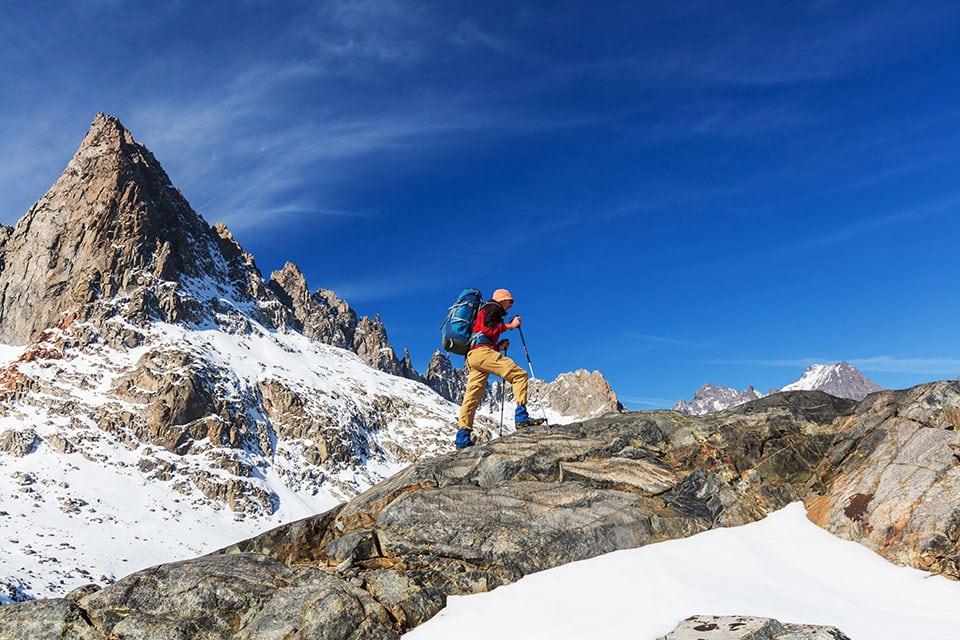 adventurous lifestyle hiking