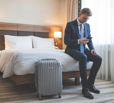 Businessman in the hotel