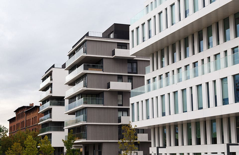 Modern luxury apartments buildings